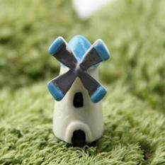 2Pcs Miniature Fairy Garden Cottage Craft Micro Terrarium House Accessories Feng che