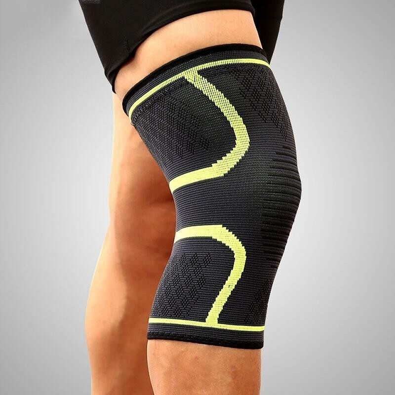 2PCS/Pair Fitness Running Cycling Knee Support Braces Elastic Nylon Sport Compression Knee Pad Sleeve for Basketball Volleyball Suitable for leg circumference: 42-47cm