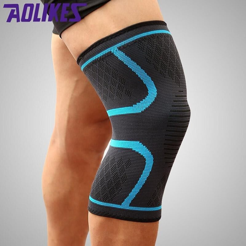 2PCS/Pair Fitness Running Cycling Knee Support Braces Elastic Nylon Sport Compression Knee Pad Sleeve for Basketball Volleyball XL(Suitable for leg circumference: 48-55cm)
