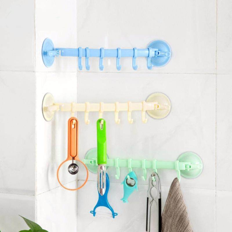 2PCS/SET Newest suction wall hanging Stand Hook Kitchen Bathroom Hanger Supper Power Vacuum Sucker suction Hooks Adjustable White