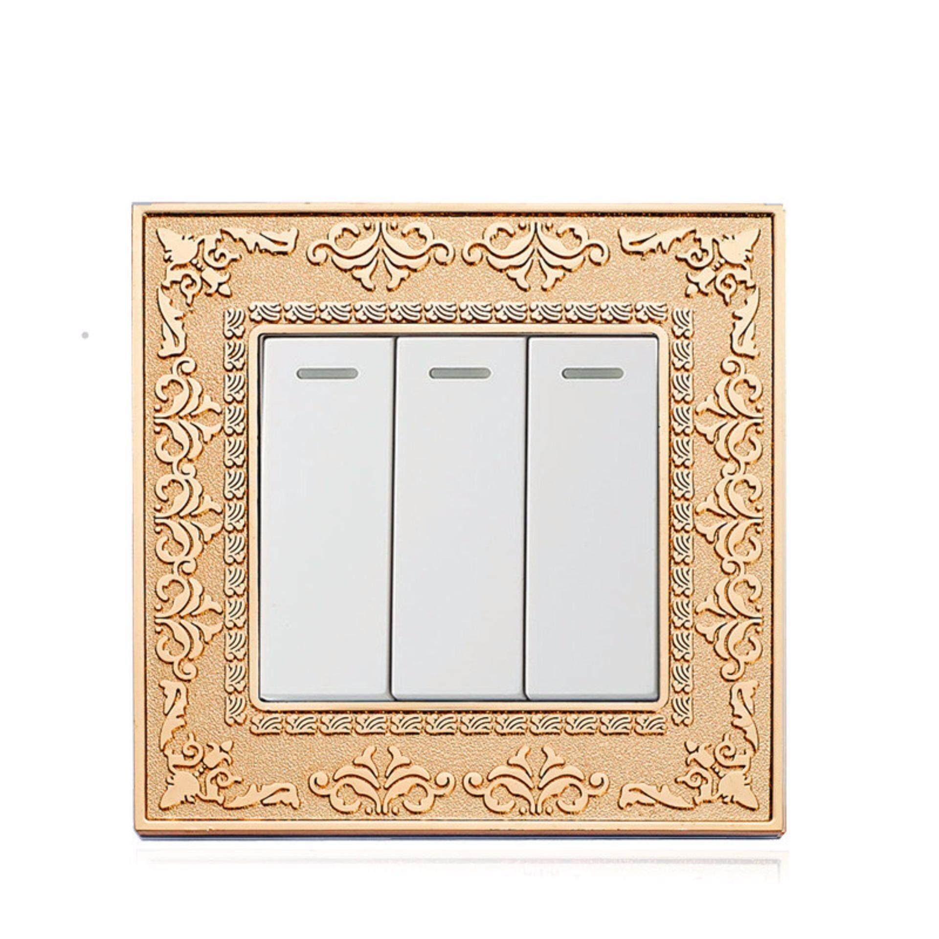 Buy Sell Cheapest 2 Gang 3 Best Quality Product Deals Light Switch Uk Way Push Button And Gold Color Wall Standard