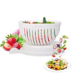 3 In 1 Salad Cutter Bowl Fruit Vegetable Washer And Cutter Salad Maker Chopper ( Quick Fast & Easy ) By Spicy Tech.
