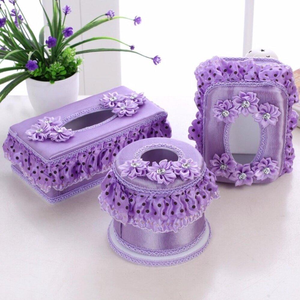 3 Pcs 1 Set 3 Sizes Tissue Boxes Facial Napkin Cover Holder Car Living Room Home