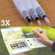 3 Pcs Refillable Ink Color Pen Water Brush Pen Office Stationery Refillable Ink Color Pen Water Brush Pen Office Stationery size:L