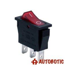3-Pin SOKEN RK1-11 Premium On/Off Rocker Switch SPDT 16A/250V With LED (Red)