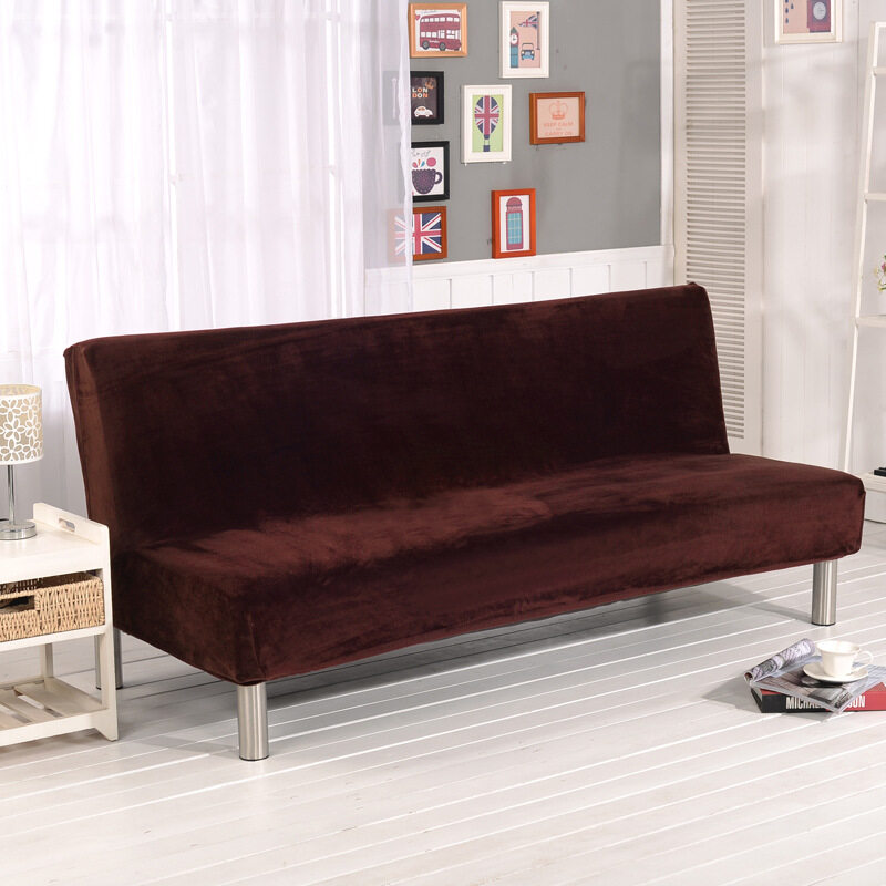 How To Get 3 Seater Plush Sofa Cover Slipcover Armless Settee Couch Protector Elastic Sofa Bed Cover Home Decor Intl