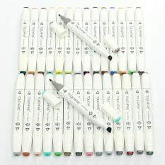 Mua 30 Color SET Touch Five Alcohol Graphic Art Twin Tip Pen Marker Broad Fine Point White