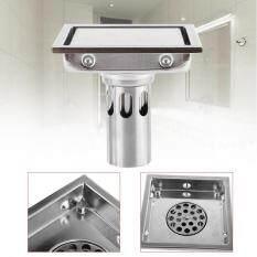 Qianmei 304 Stainless Steel 110 X 110mm Bathroom Shower Tile Insert Square Shower Floor Drain Strainer