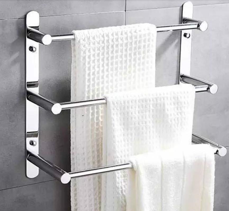 304 Stainless Steel Towel Ladder Modern Rack Bars Bathroom 3 Layers