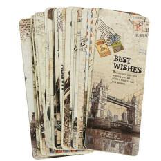 30pcs Paris Eiffel Tower Vintage Retro Paper Book Mark Bookmark Book Label By Gorgeous Road.