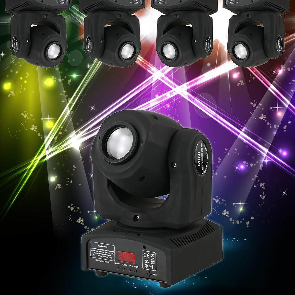 30w Dmx512 Sound Control Auto Rotating 8 / 12 Channels Rainbow 7 Colors Changing Head Moving Light Stage Pattern Lamp For Disco Ktv Club Party - Intl By Tomtop.