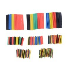 328Pcs 2:1 Ratio Polyolefin Heat Shrinkable Tubing Sleeving Wrap Cable Kit