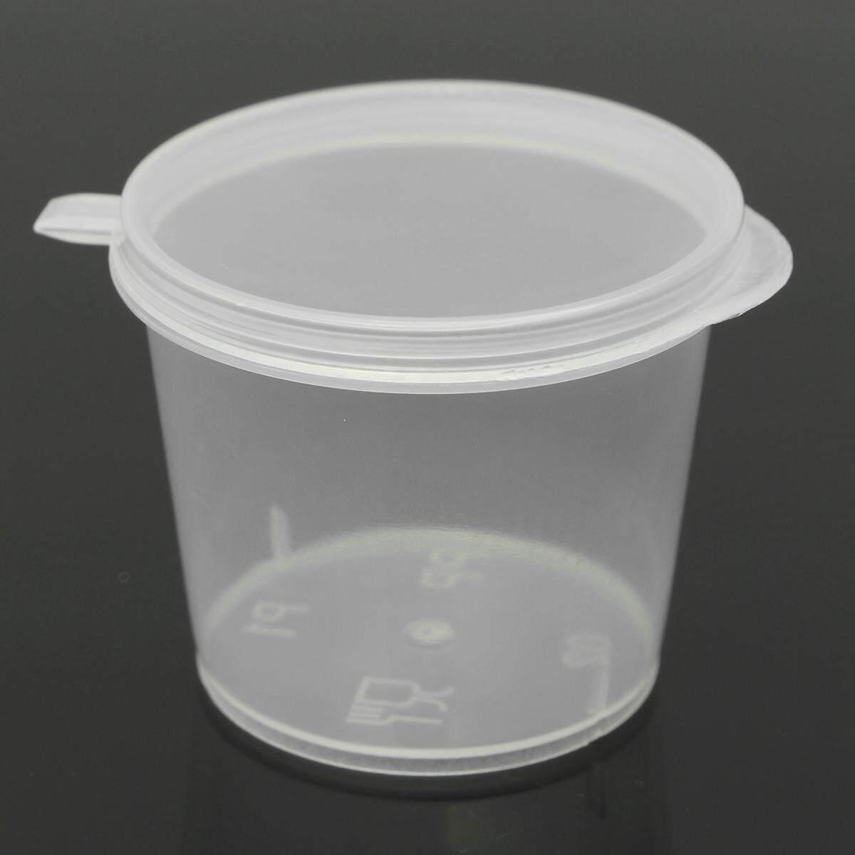 35 ml 30/Bộ Nhựa Nhỏ Nước Ly Hộp Trữ Thức Ăn Trong Suốt Ô + Nắp Lưng-quốc tế