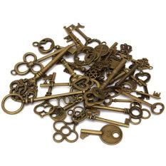 36 Various Alloy Antique Old Look Key Charms Jewellery Pendant Handmade DIY Keys