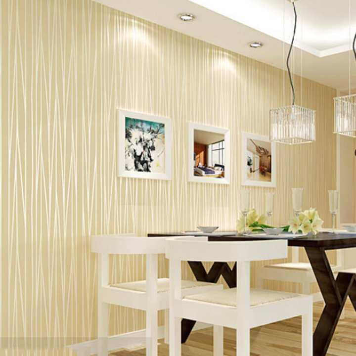 360DSC 5M Nonwovens Self-adhesion Wallpaper 3D Embossed Pattern Stickers Decal Wall Paper Roll - Beige