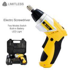 3.6V Rechargeable Electric Screwdriver Kit 90 Degree Rotary Household Electric Drill