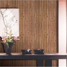 3D Bamboo Weaving PVC Wallpaper for Bar KTV Hotel 20.8 x 393.7