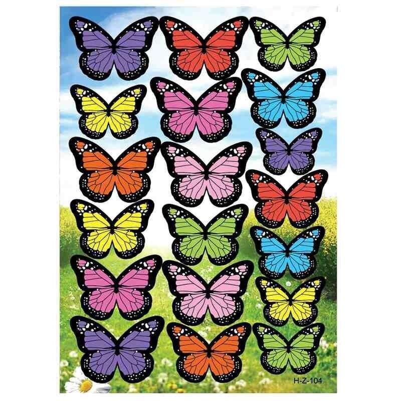 3D Kupu-kupu Simulasi Tiga Dimensi Ramah Lingkungan PVC Stiker Dinding-Intl
