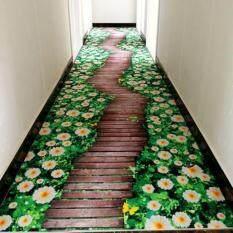 3D Floral Print Bedroom Carpets Soft Bedside Footcloth Anti-slip Sofa Mat Tea Table Rugs Large Floor Mat Carpet Balcony Mats Pads 80x120CM