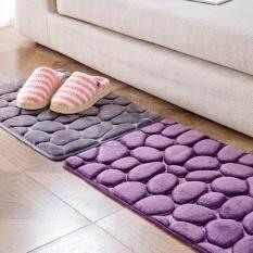 3D Klasik Kualitas Tinggi Penyerap Non-Slip Karpet Batu Besar Keset Kamar Mandi Dapur Pintu