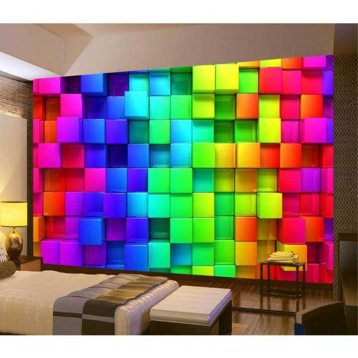 3D Photo Wallpaper Wall Mural Modern Abstract Geometric Art Indoor Coloful Giant