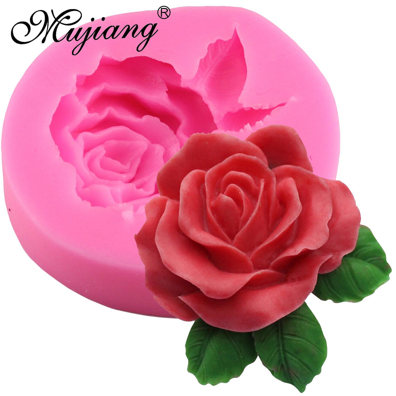 MYR 31. Zebang store 3D Rose Flower Leaf Silicone Mold Fondant Cake Decorating Tools Chocolate Gumpaste Moulds ...