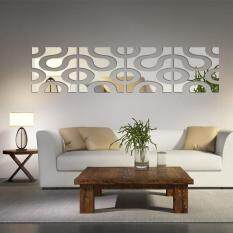 Best Reviews Of 3D Diy Acrylic Wall Sticker Home Decor 2L 2R Set Color Silver Size 30Cm 120Cm
