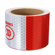 3M White/Red Reflective Safety Warning Conspicuity Tape Film Sticker Roll Strip