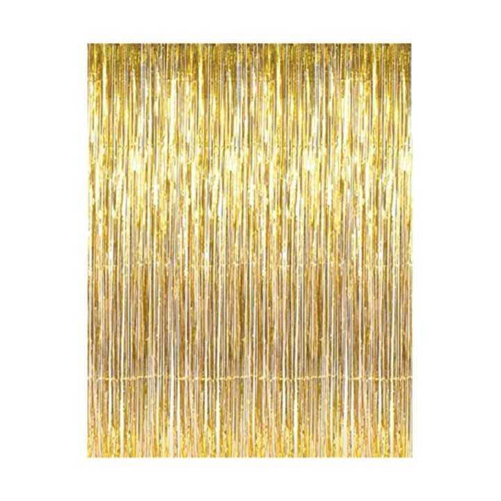 3m X 1m Metallic Curtain Fringe Curtain Party Foil Tinsel