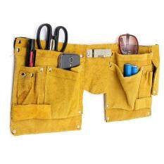 3PCS Leather Pocket Pouch Tool Belt Bag Electrician Carpenter Contractor Construction Yellow