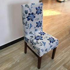3Pcs Printing flower Spandex Stretch Dining Chair Cover Restaurant For Weddings Banquet Folding Hotel Chair Covering
