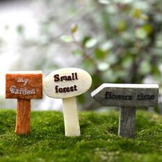 3Pcs Resin Crafts Figurines Micro Landscape DIY Toy Fairy Garden Miniatures Multi