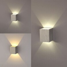 3W LED Square Wall Lamp Hall Walkway Living Room Light Fixture (White) – intl