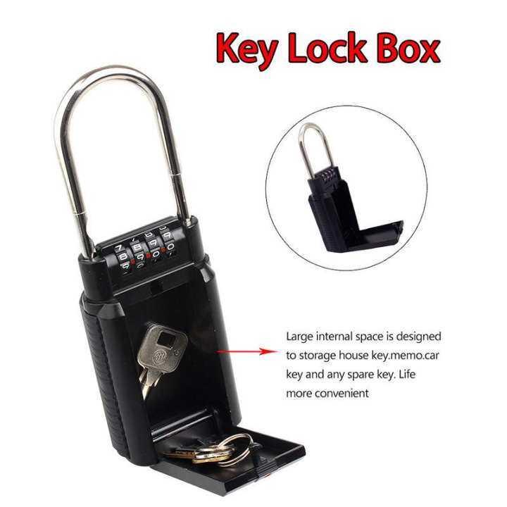 ราคา Combination Key Storage Lock Box 4 Digit Front Opening
