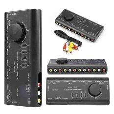 Sway 4 in 1 Out AV RCA Switch Box AV Audio Video Signal Switcher Splitter for DVD VCD