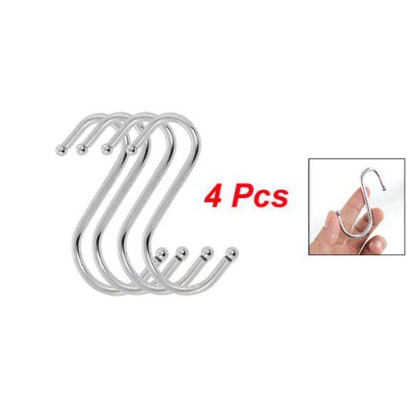 4 Pcs Scarf Apparel Punch Cup Bowl S Shaped Metal Hooks Hangers (Intl)