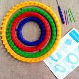 List Price 4 Pcs Set Diy Round Circle Hat Knitter Knitting Loom Kit 4 Size 14Cm 19Cm 25Cm 30Cm Oem
