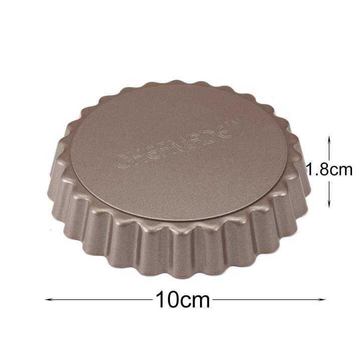 4 ''Pie Tart Pan Khuôn nướng đáy có thể tháo rời hình tròn không dính-