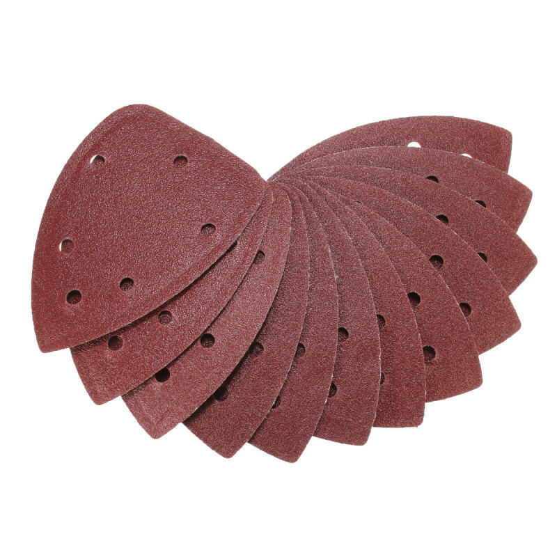 40X 4 80rit Mouse Sanding Sheet Discs Triangle Grinder Paper Pad - intl