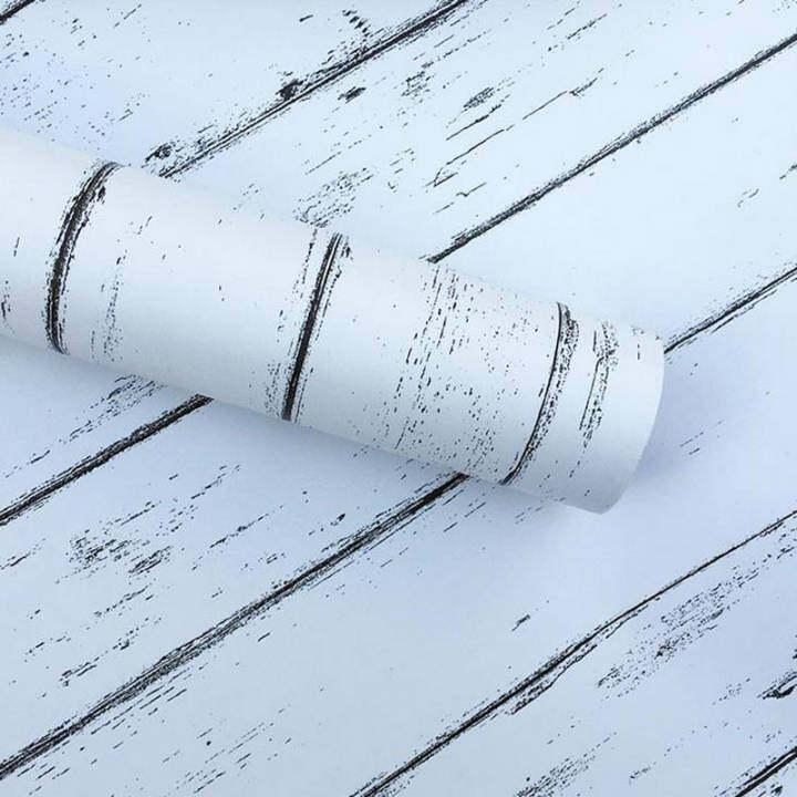 45cm*2.5m Waterproof Wood Furniture Renovation Sticker Self-adhesive Wallpaper (white)