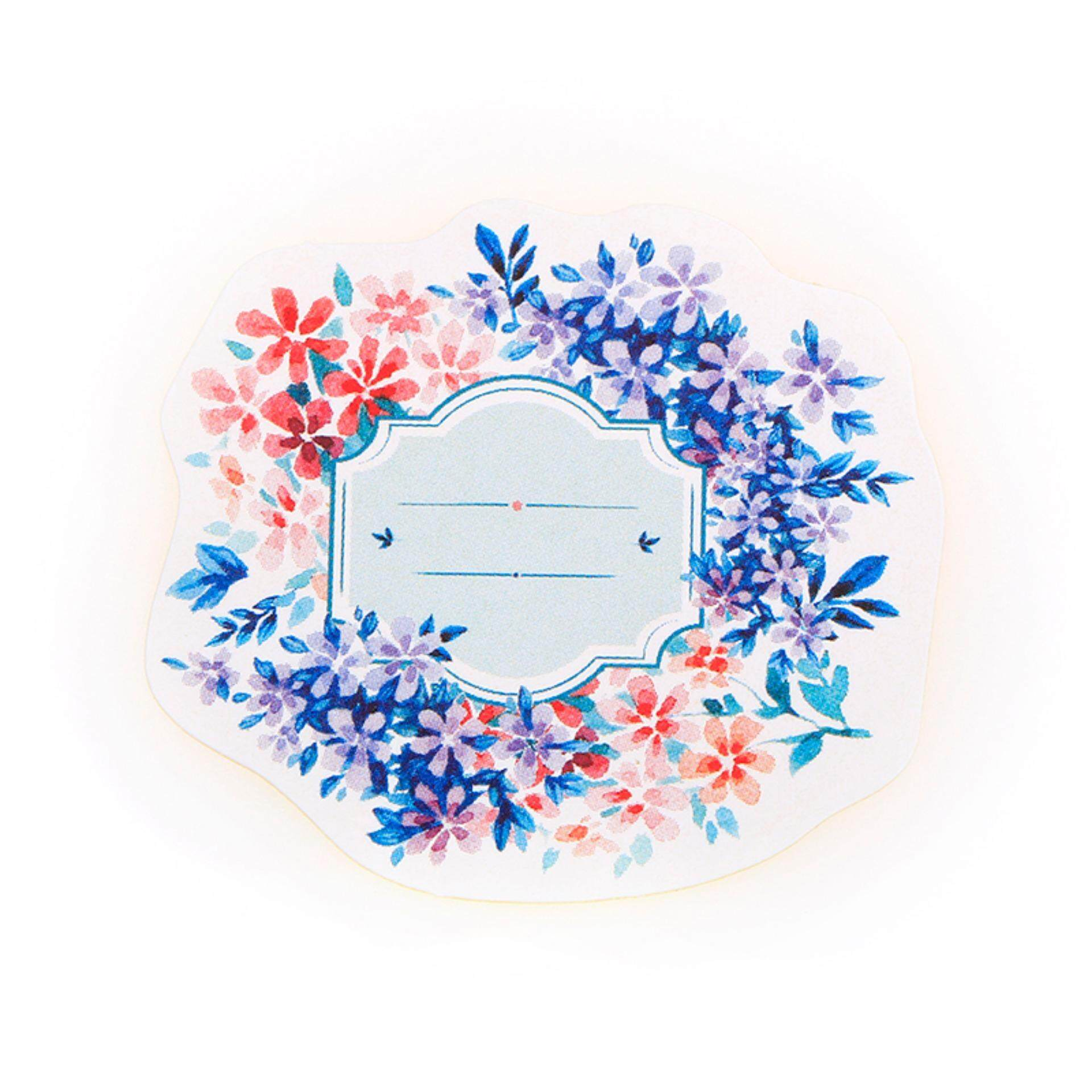 Hình ảnh 45pcs/box Paper Floral Writable Christmas Gift Packing Label Seal Stickers Decor - intl