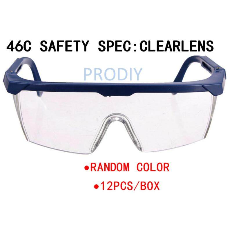 46C 12PCS SAFETY SPEC CLEARLENS (RANDOM COLOR), 46C 12PCS EYE PROTECTION CLEARLENS (RANDOM COLOR)