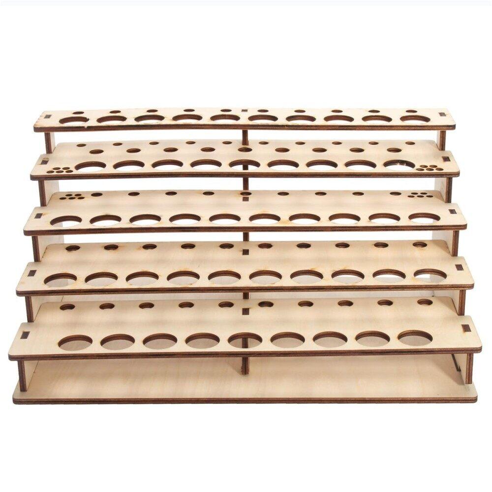 48 Pots Wooden Color Paint Bottle Storage Rack Stand Holder Organizer Model Tool - intl