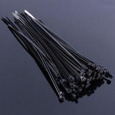 4mm*200mm Nylon Plastic Zip Ties Self-Locking 100pcs(Black)