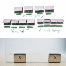 4pcs 6-12mm Stainless Steel Square Clamp Holder Clip For Glass Shelf Handrail  6-8MM