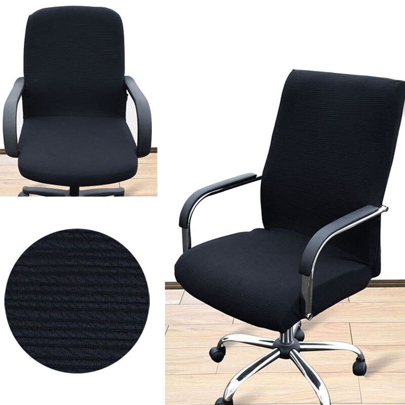 4Pcs Arm Chair Cover Three Sizes Office Computer Chair Cover Side Zipper Design Recouvre Chaise Stretch Rotating Lift Chair Cover - intl