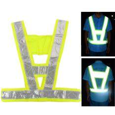 4PCS Security Reflective Vest High Visibility Waistcoats Safety Stripes Jacket