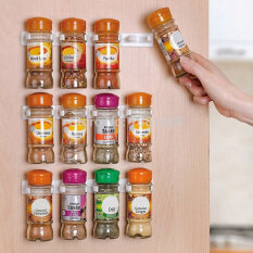 Mecola 4pcs Spice Wall Rack Storage Plastic Kitchen Organizer 5 Hooks/gripper White Intl By Mecola.