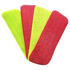 4pcs Spray Mop Replacement Pads Washable Refill Microfiber Wet/dry Cleaning Use Reusable, Cleaning Supply (4 Pack, Green & Red) By Greatbuy666.