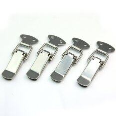 4pcs Stainless Steel Spring Draw Toggle Latch Catch for Cases Boxes Chests